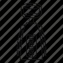 cork, corkscrew, drink, line, opener, outline, thin