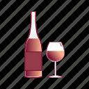 alcohol, beverage, bottle, drink, glass, wine