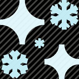 night, snow, star, winter icon