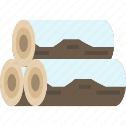 firewood, log, winter, wood icon