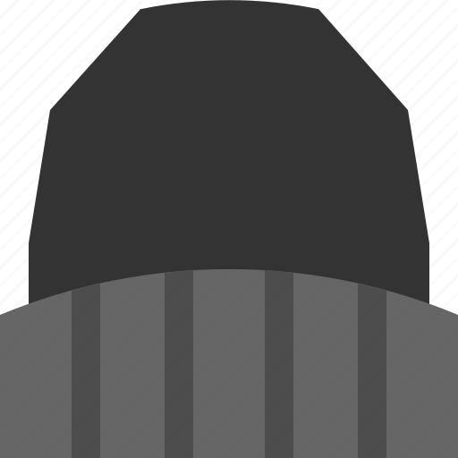 beanie, hat, knitted, warm icon