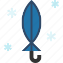 folded, snow, umbrella, winter icon