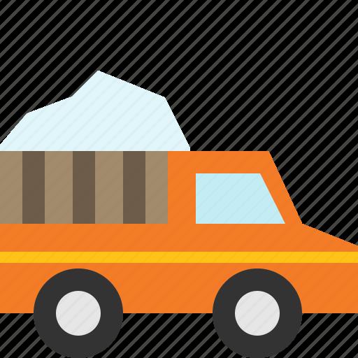 snow, truck, vehicle, winter icon