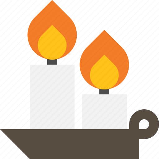 candle, decoration, light, winter icon