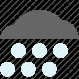 hail, hailfall, snow, weather icon
