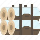firewood, log, stock, wood icon