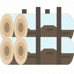 firewood, log, stock, wood icon