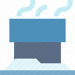 building, chimney, smokey, structure icon