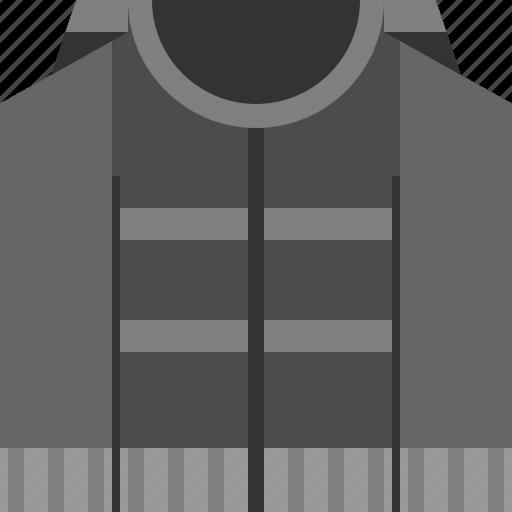 jacket, jumper, sweater, vest icon