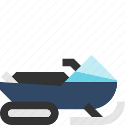 snowmachine, snowmobile, transport, winter icon