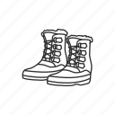 foot, foot gear, shoes, snow, snow shoes, winter, winter boots icon