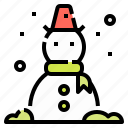 christmas, decoration, snow, snowman, winter