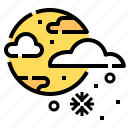 cloud, moon, night, snow, weather, winter icon