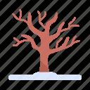 branch, snow, winter tree, cold icon