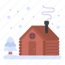 wood cabin, house, cabin, wood house icon