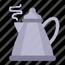 kettle, teapot, pot, boiling icon