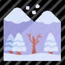 nature, mountains, snow, landscape icon