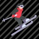 skiing, winter, ski, winter sport icon