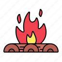 bonfire, camping, firepit, campfire