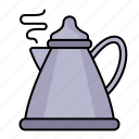 teapot, pot, kettle, boiling