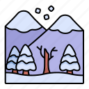 landscape, nature, snow, mountains icon
