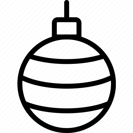 christmas, decoration, globe, striped icon