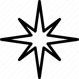 christmas, decoration, star, winter icon