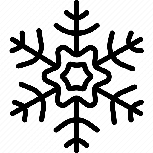 flakes, snow, winter icon