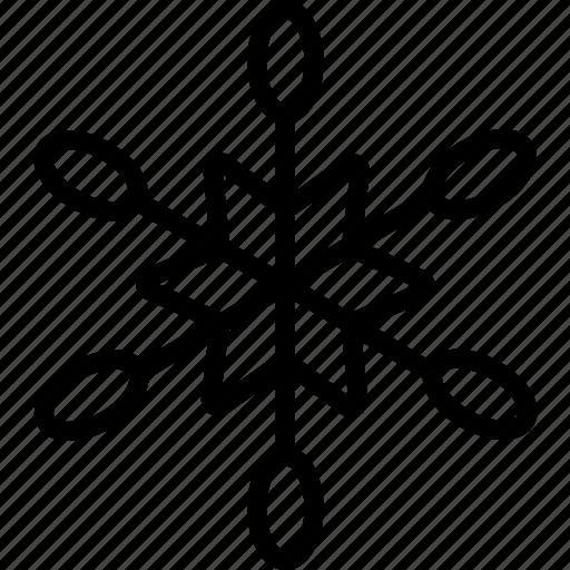 flake, plain, snow, star, winter icon
