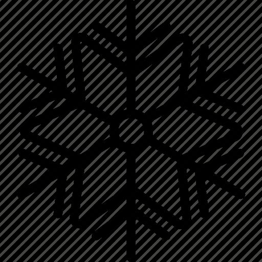 flakes, snow, winter icon