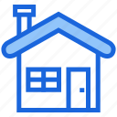 cold, holiday, house, winter icon