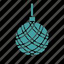ball, christmas, decoration, winter icon