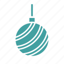 ball, bulb, christmas, ornament, winter icon