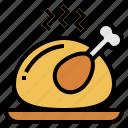 chicken, christmas, food, restaurant icon