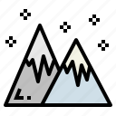 mountains, nature, snow, winter icon