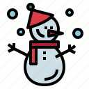 christmas, icicle, snowman, weather icon