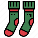 clothing, garment, socks, winter icon