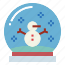 christmas, globe, snow, winter icon