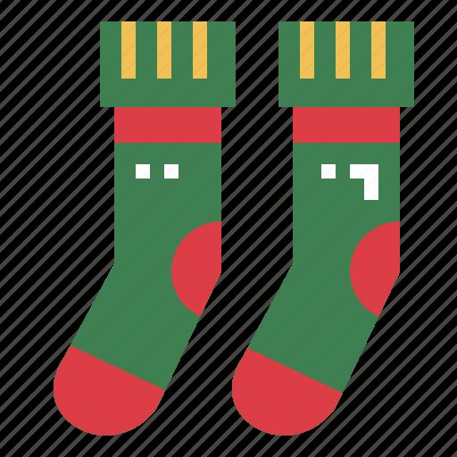 clothing, garment, socks, winter icon