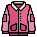 clothing, coat, fashion, jacket icon