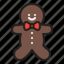 baking, christmas, cookie, gingerbread, men, snack, winter