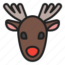 animal, caribou, christmas, deer, reindeer, winter icon