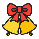 bell, christmas, decoration, dingdong, ribbon, winter icon