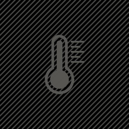 heat, hot, temperature, thermometer icon