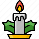 candle, christmas, decoration, light, winter icon