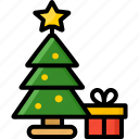christmas, pine, tree, winter, xmas icon