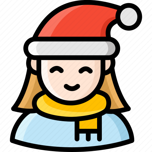 christmas, female, people, person, winter icon
