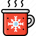 christmas, coffee, drink, hot, tea, winter icon