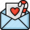 christmas, letter, mail, sweet, winter icon