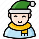 avatar, christmas, male, people, person, winter icon